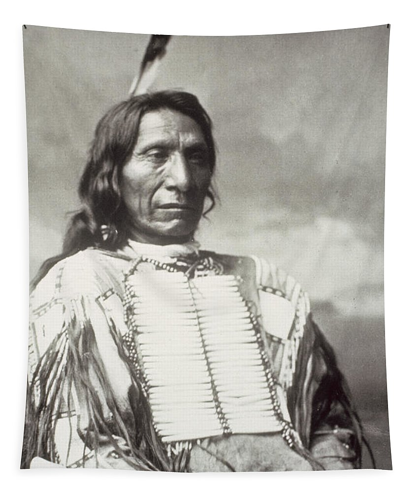 Red Cloud Tapestry featuring the photograph Red Cloud Chief by Charles Milton Bell