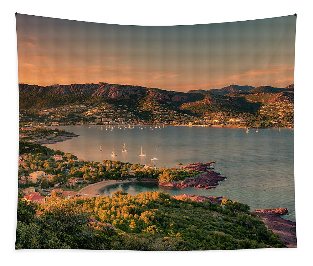 Agay Tapestry featuring the photograph Red Mountains by Michael Niessen