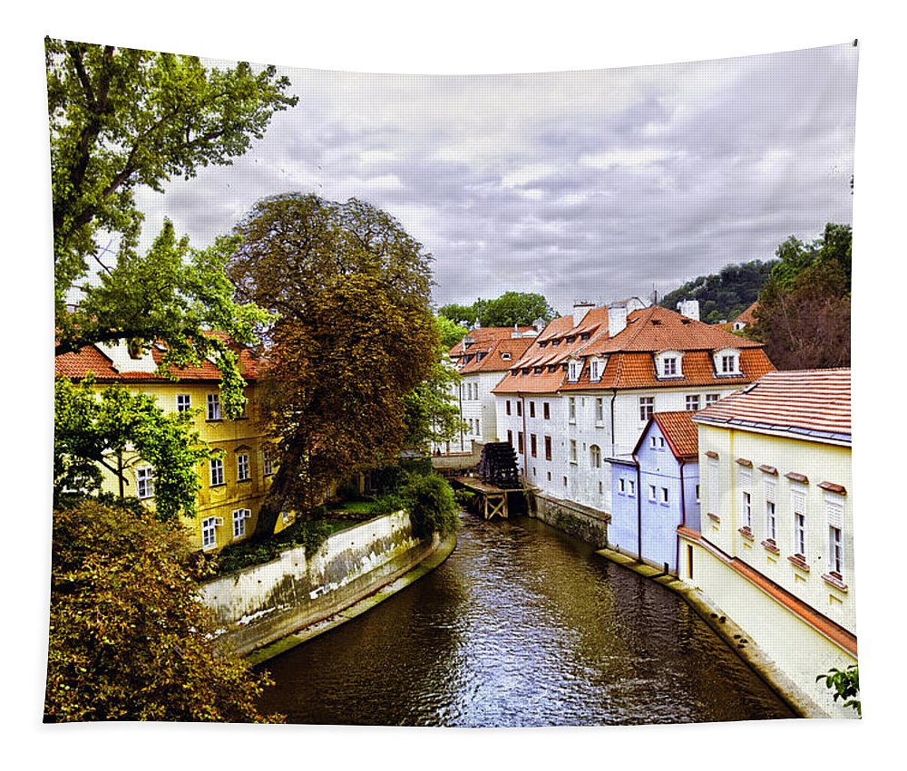 Prague Tapestry featuring the photograph Red Roofs Of Prague - 2015 by Madeline Ellis