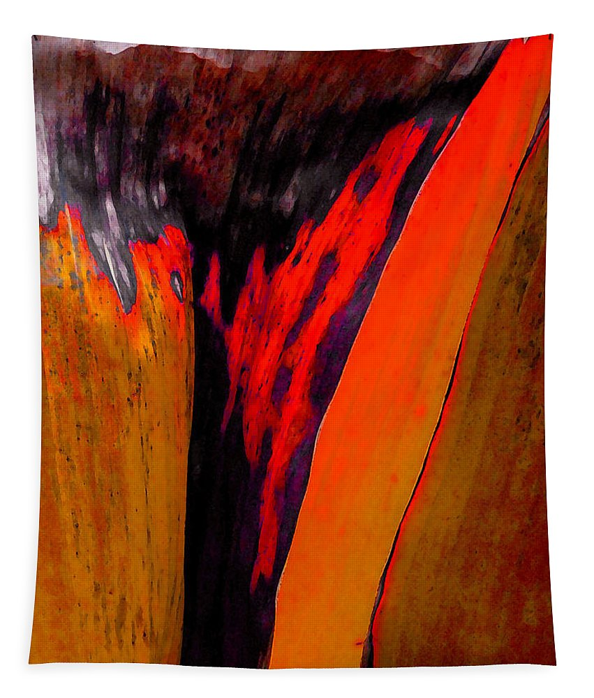 Leaf Tapestry featuring the painting Red Running II by Stephen Anderson