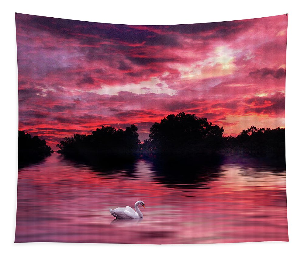 Sunset Tapestry featuring the photograph Red Sky At Night by Jessica Jenney