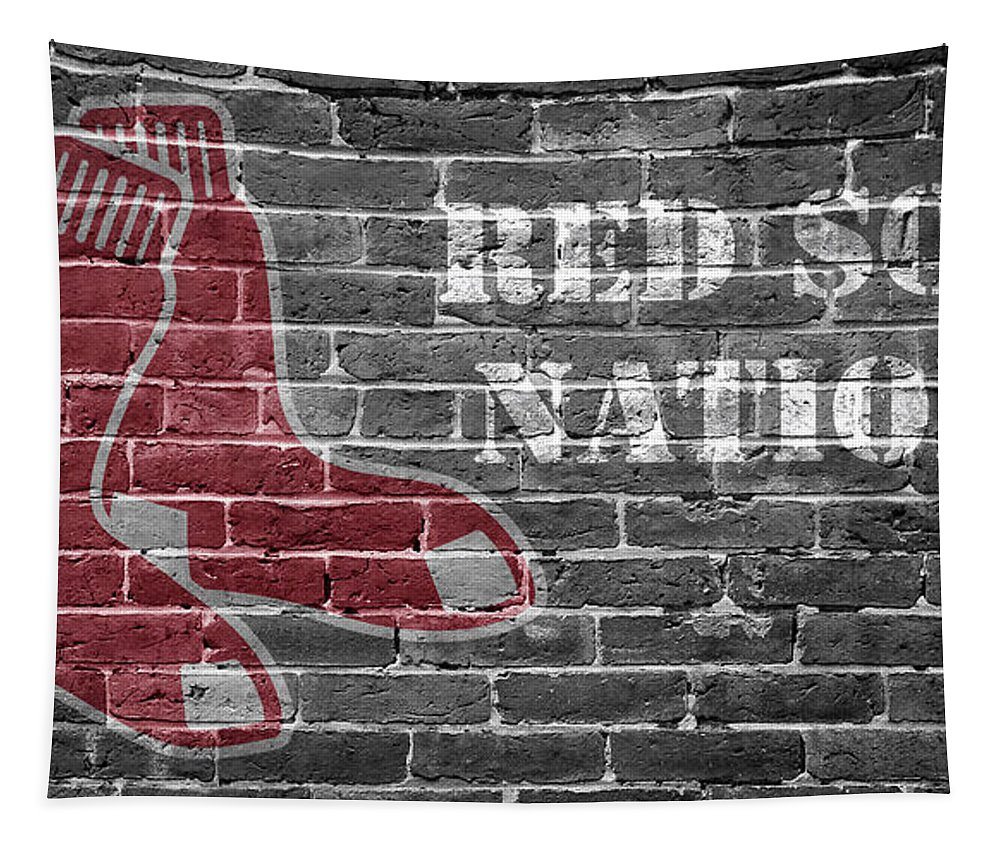 April Tapestry featuring the photograph Red Sox Nation by Edward Fielding