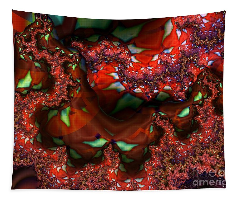 Berry Tapestry featuring the digital art Red Thread by Ron Bissett