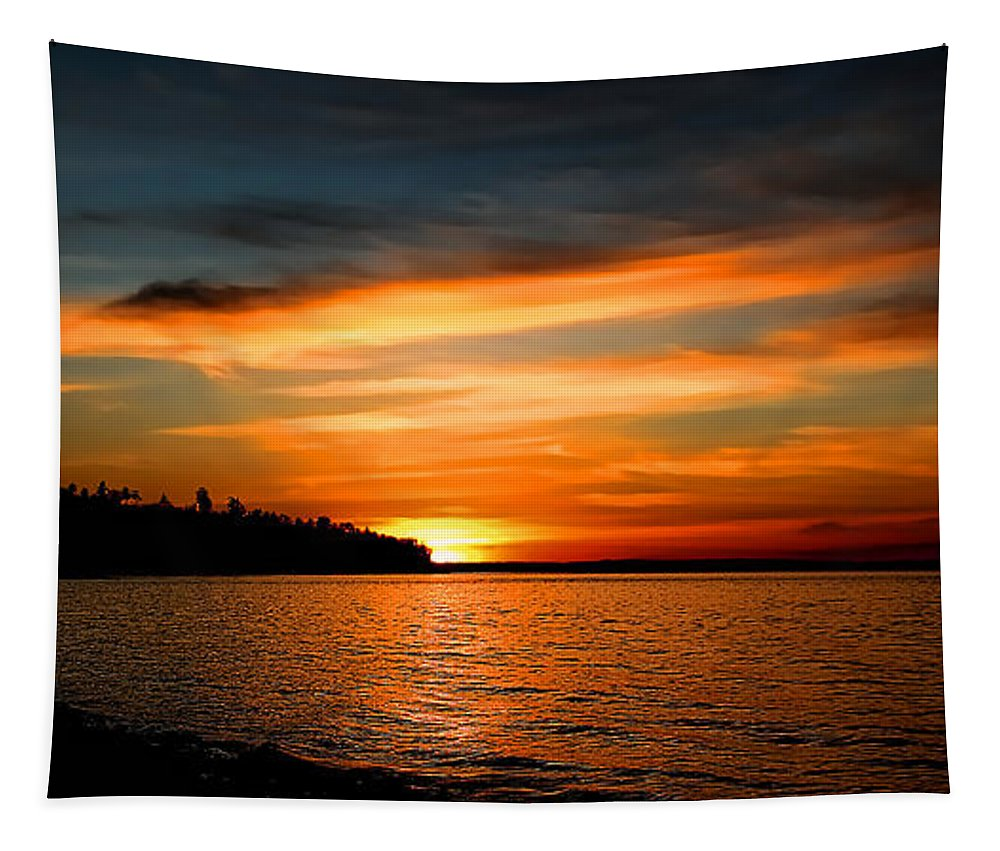 Redondo Sunset Tapestry featuring the photograph Redondo Sunset by David Patterson