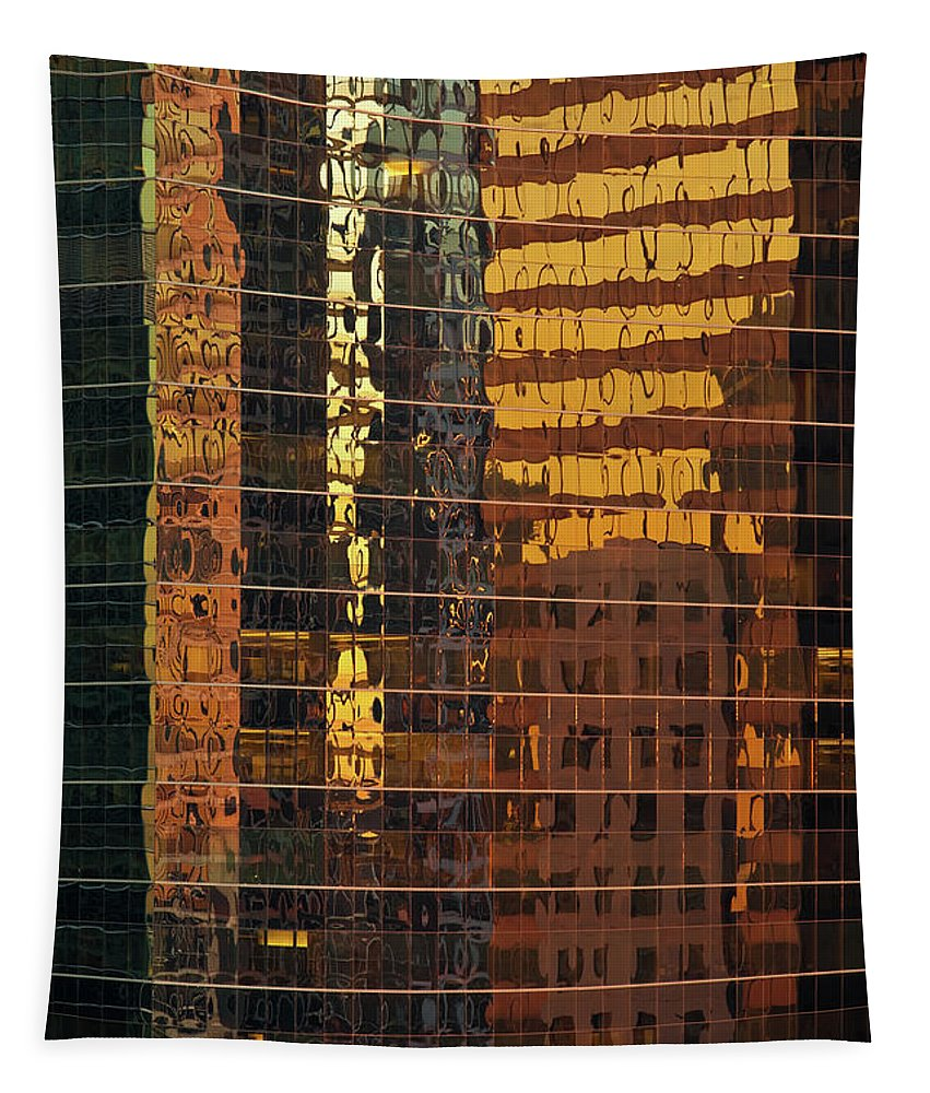 Chicago Tapestry featuring the photograph Reflecting Chicago by Steve Gadomski
