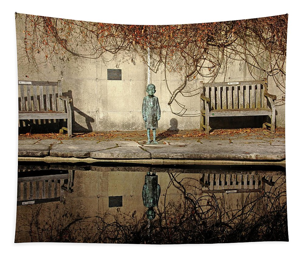 Bittersweet Vine Tapestry featuring the photograph Reflecting Child by Debbie Oppermann