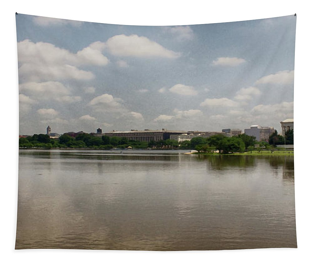 Washington Tapestry featuring the photograph Reflection In Washington by Tom Gari Gallery-Three-Photography