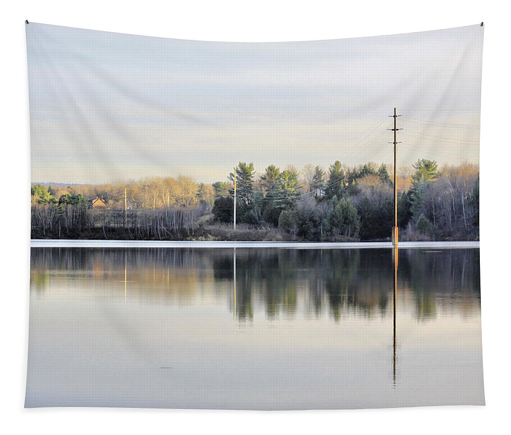 Water Tapestry featuring the photograph Reflections Across The Water by Deborah Benoit