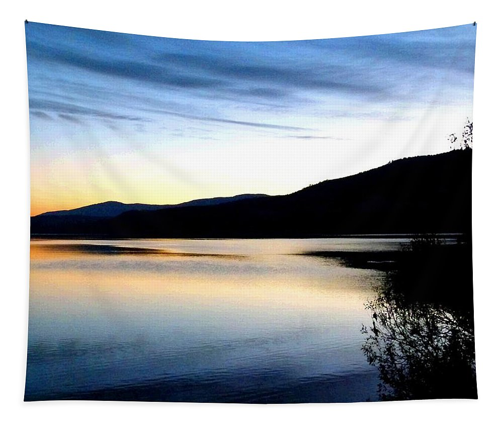 Reflections And Silhouettes Tapestry featuring the digital art Reflections And Silhouettes by Will Borden