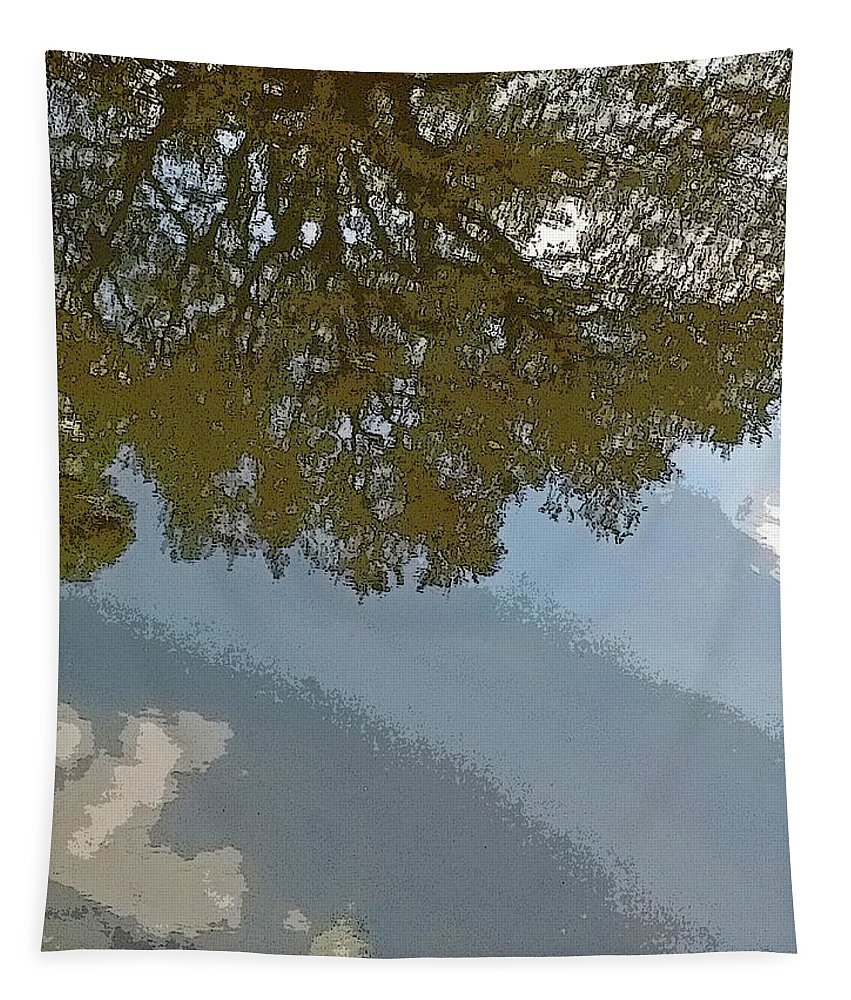 Photography Tapestry featuring the digital art Reflections In A Lake - Poster Edges by Marian Bell