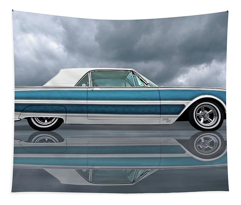 Ford Thunderbird Tapestry featuring the photograph Reflections Of A 1961 Thunderbird by Gill Billington