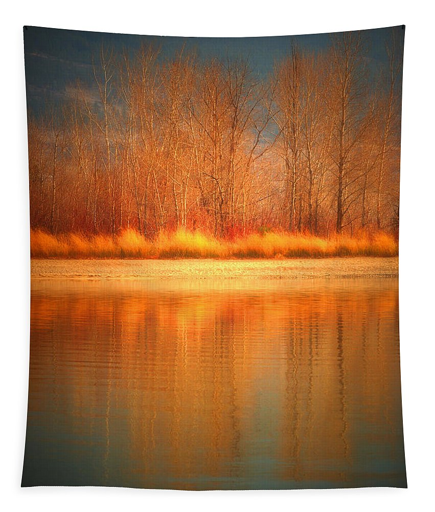 Okanagan Tapestry featuring the photograph Reflections On Fire by Tara Turner