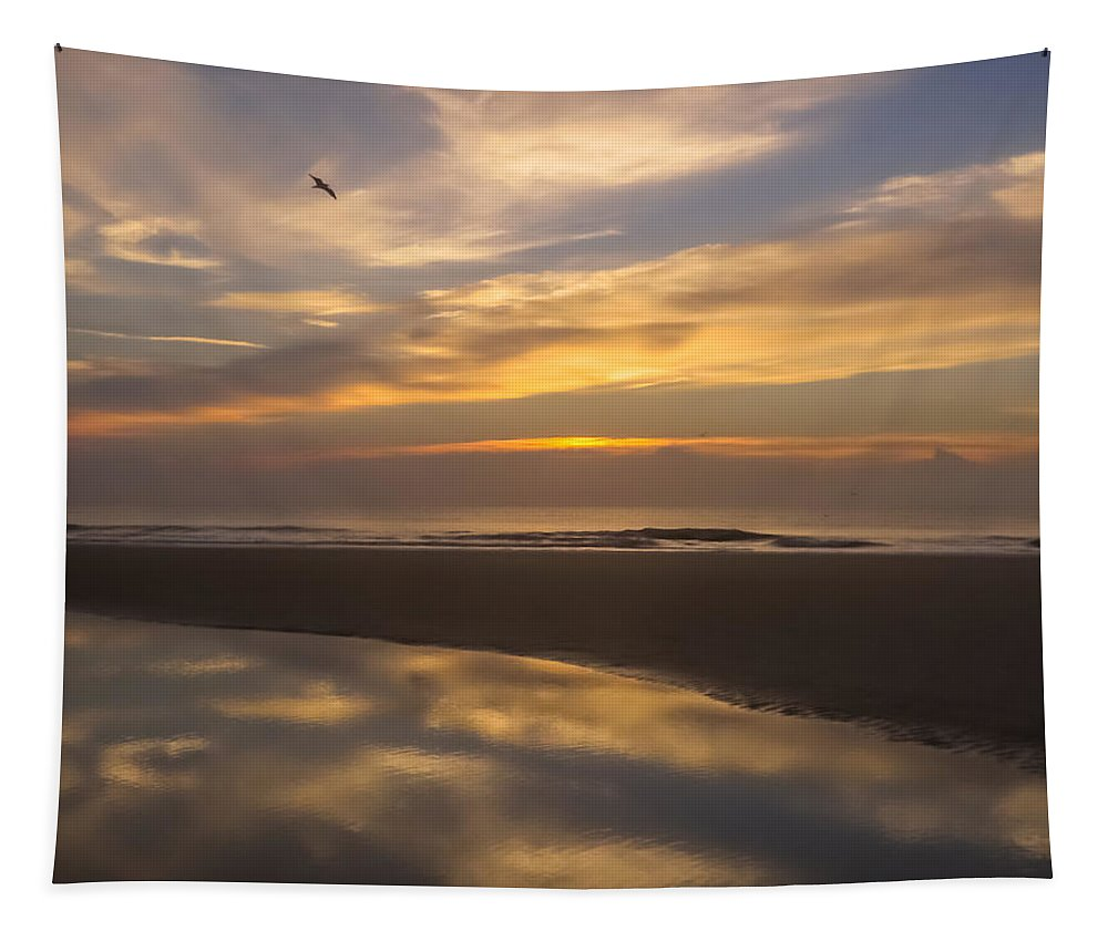 Beach Tapestry featuring the photograph Reflections On The Beach by Zina Stromberg