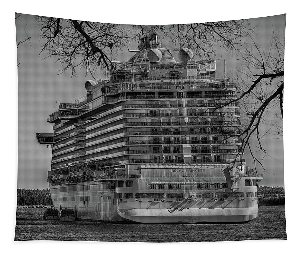 Ship Tapestry featuring the photograph Regal Princess Hamilton by Sherman Perry