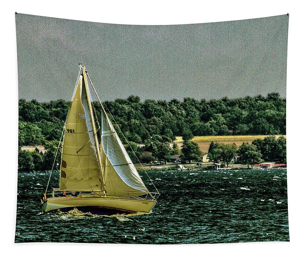 Regatta Tapestry featuring the photograph Regatta On Seneca Lake by William Norton