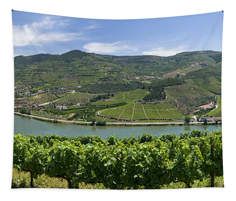 Portugal Tapestry featuring the photograph Regua Vineyards by Mikehoward Photography