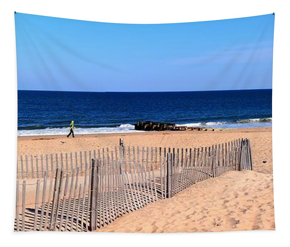 Multi-frame Tapestry featuring the photograph Rehoboth Beach Panorama by Robert McCulloch