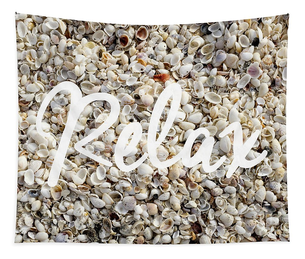 Florida Tapestry featuring the photograph Relax Seashell Background by Edward Fielding