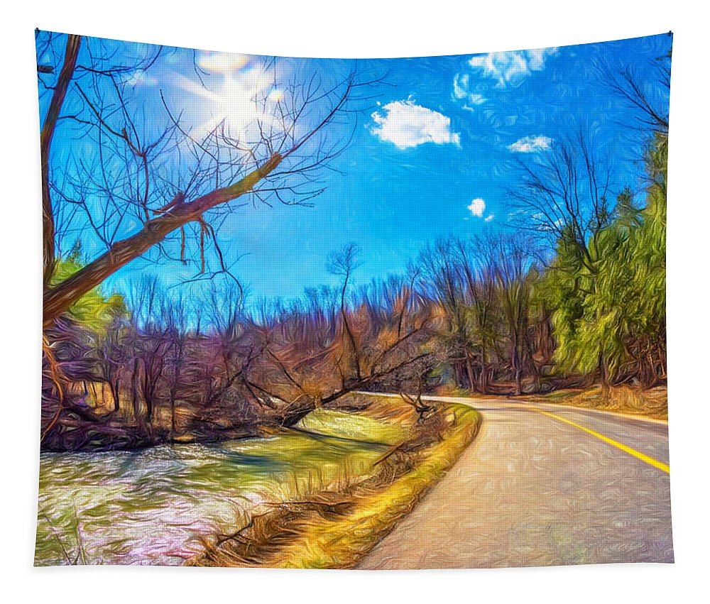 Steve Harrington Tapestry featuring the photograph Reluctant Ontario Spring 3 - Paint by Steve Harrington
