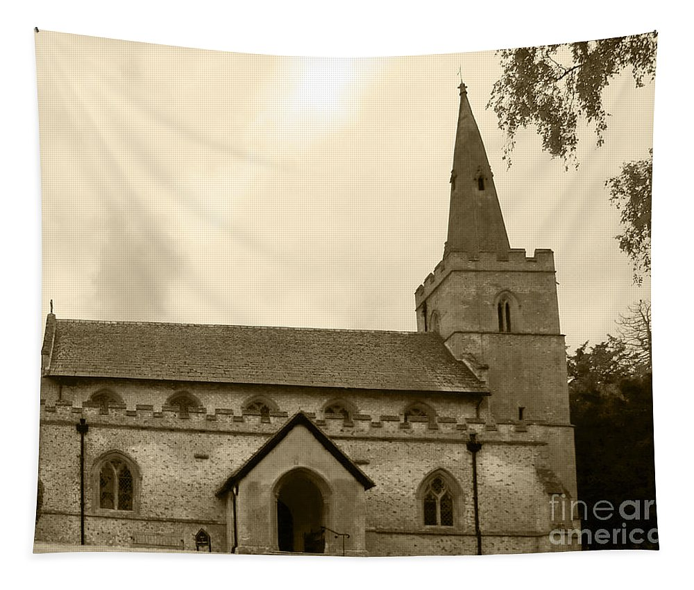 Church Tapestry featuring the photograph Remember Before God Iv by Elena Perelman