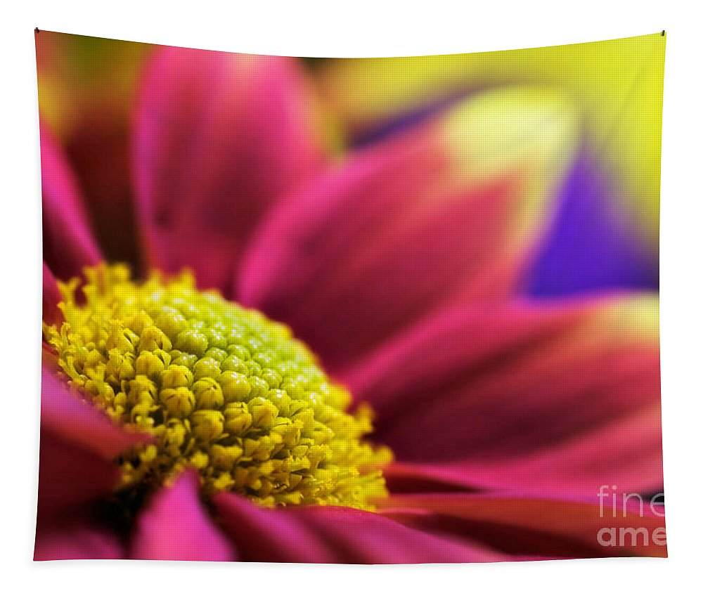 Flower Tapestry featuring the photograph Remix-yellow by John Edwards