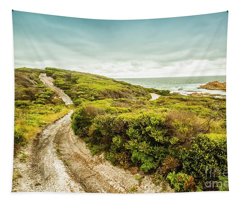 Granville Harbour Tapestry featuring the photograph Remote Australia Beach Trail by Jorgo Photography - Wall Art Gallery