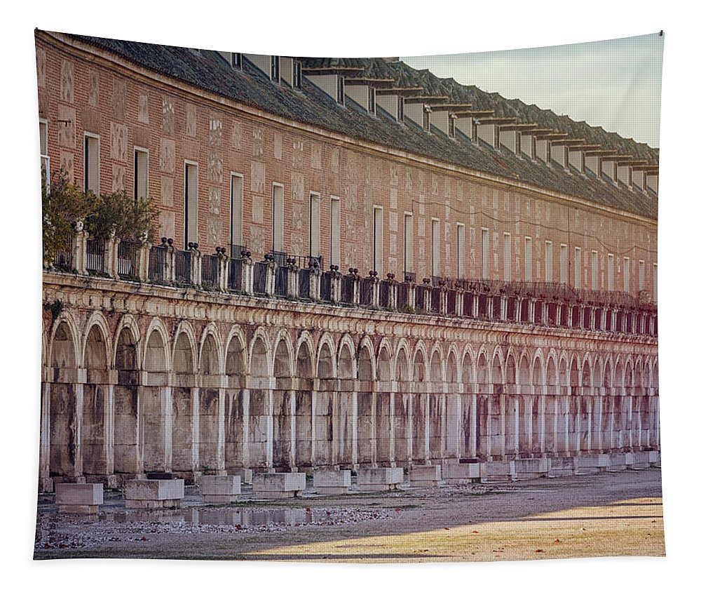 Joan Carroll Tapestry featuring the photograph Renaissance Arches Aranjuez Spain by Joan Carroll