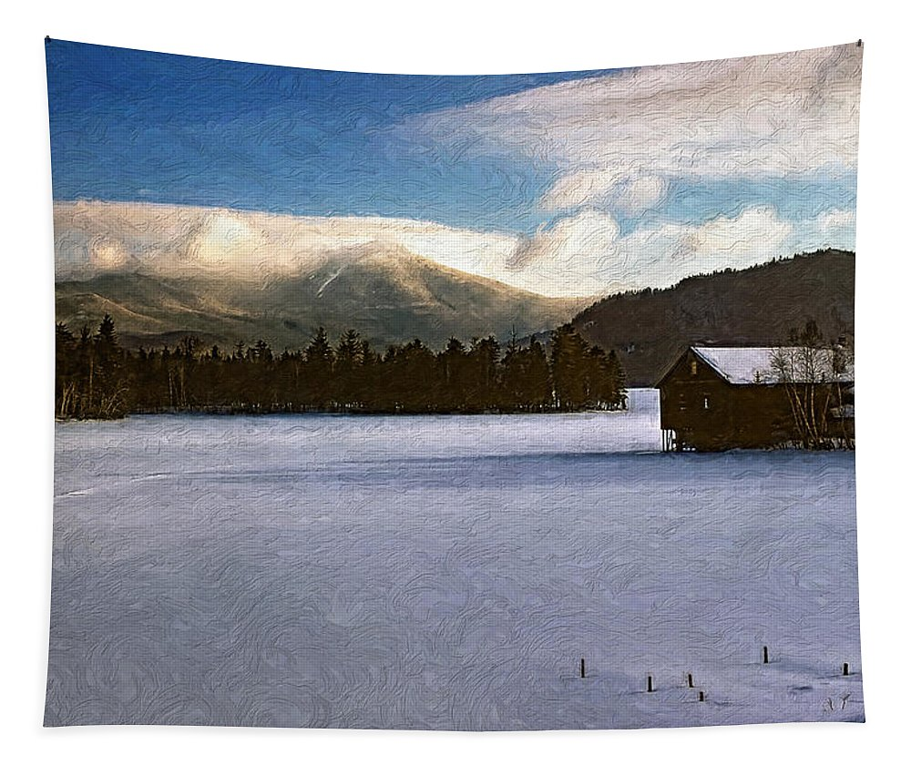 Landscape Tapestry featuring the photograph Rendezvous by Steve Harrington