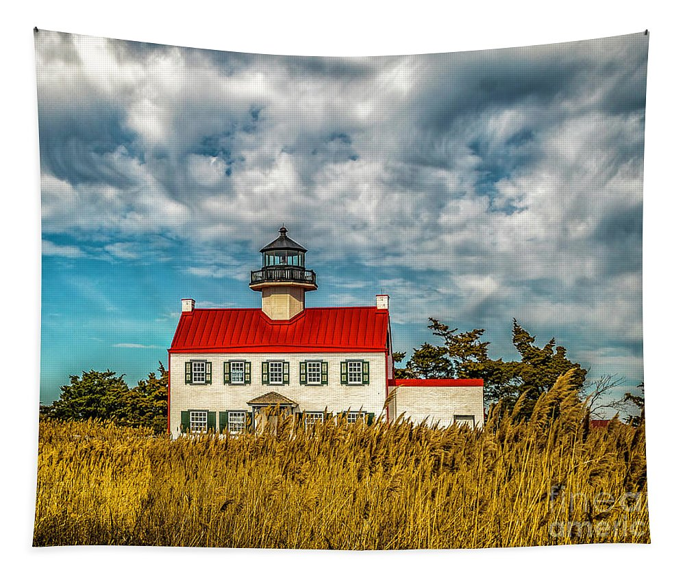 Atlantic Coast Tapestry featuring the photograph Renovated East Point Lighthouse by Nick Zelinsky