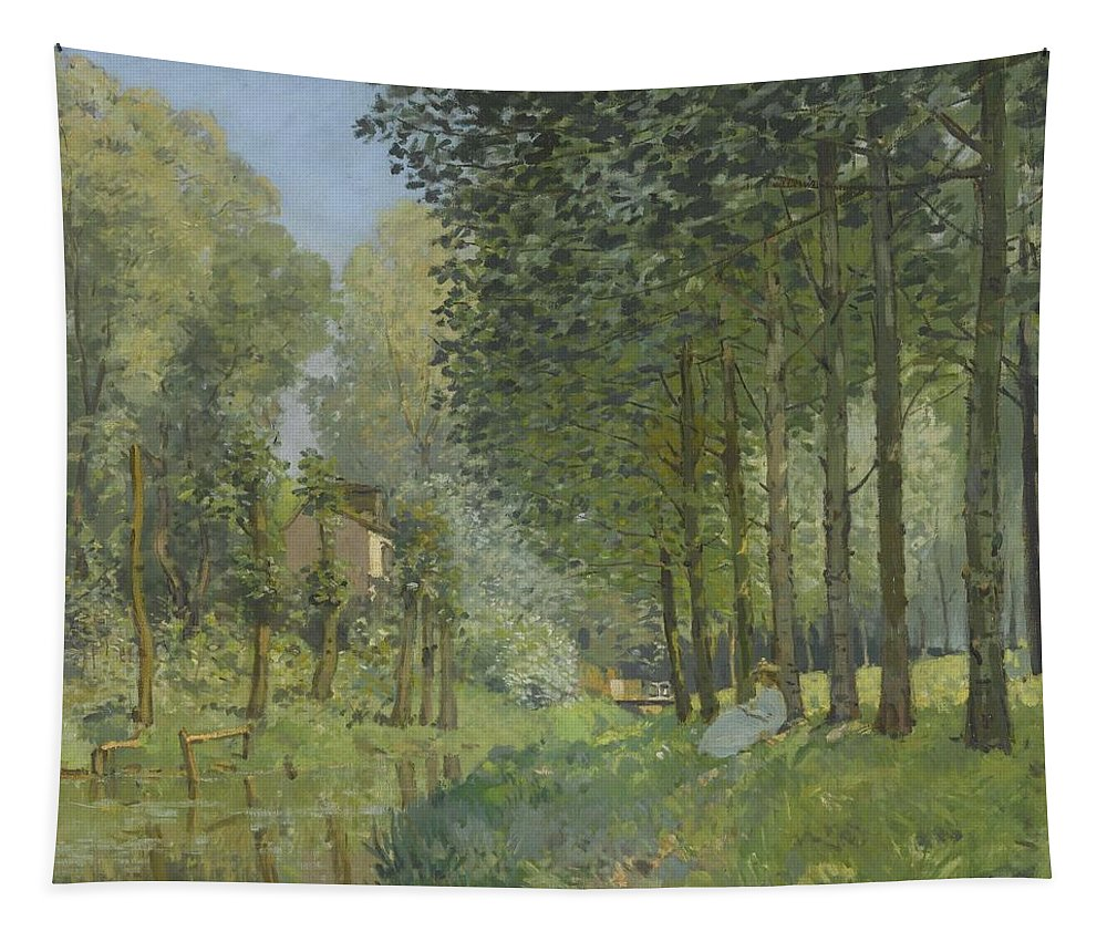 Painting Tapestry featuring the painting Rest Along The Stream - Edge Of The Wood by Mountain Dreams
