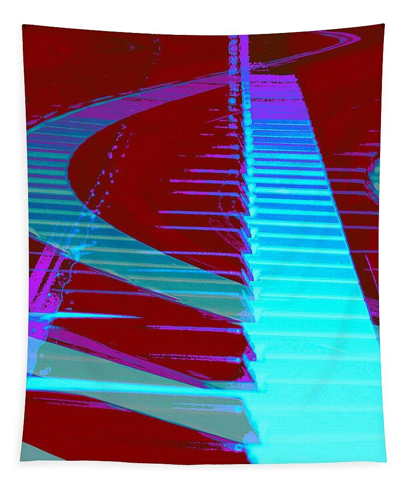 Piano Art Tapestry featuring the photograph Retro Keys by Linda Sannuti