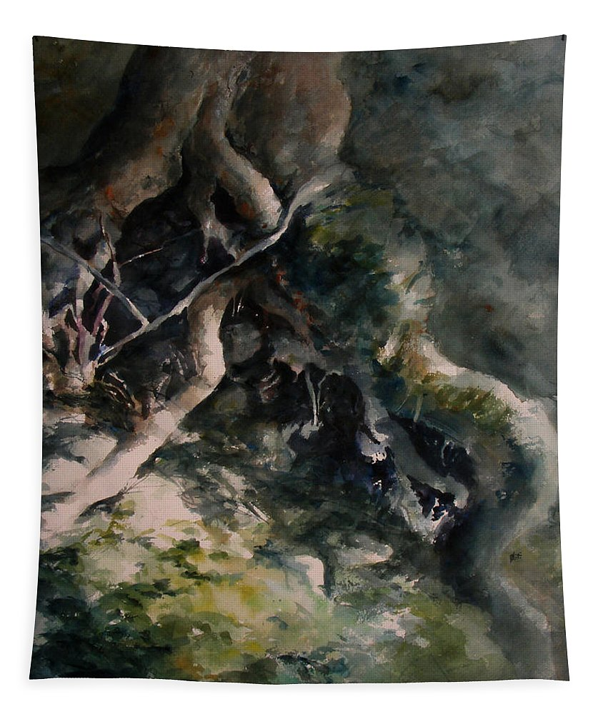 Nature Tapestry featuring the painting Revealed by William Russell Nowicki