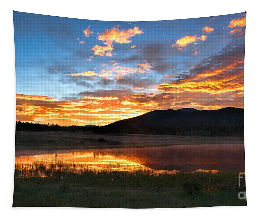 Sunrise Tapestry featuring the photograph Reveille by Jim Garrison
