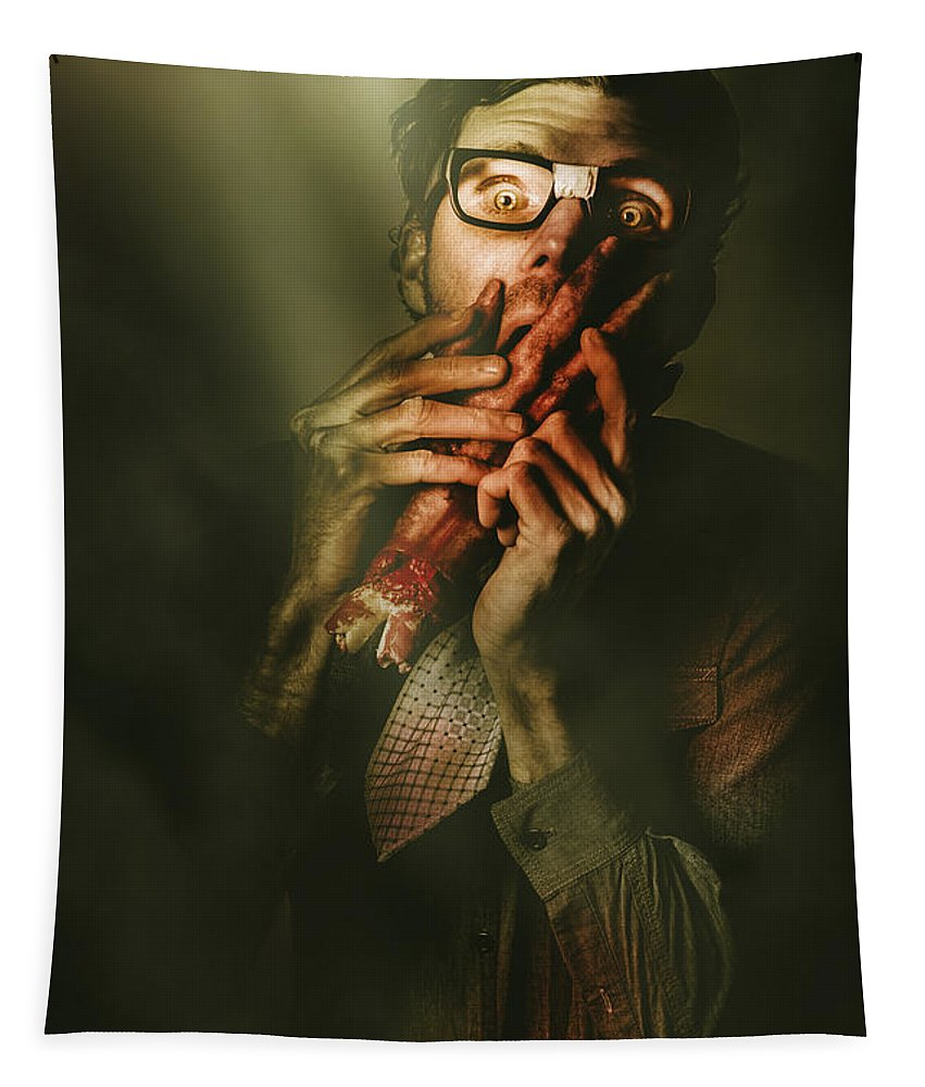 Horror Tapestry featuring the photograph Revenge Of The Nerd by Jorgo Photography - Wall Art Gallery