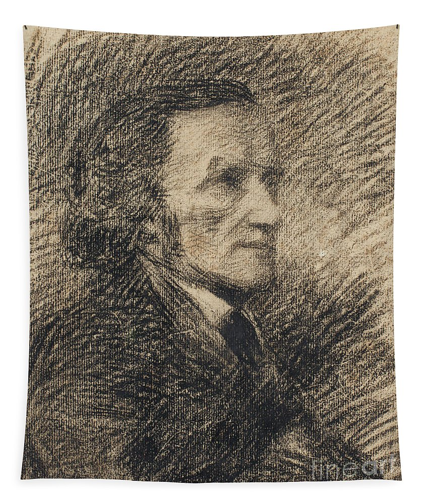 Renoir Tapestry featuring the drawing Richard Wagner by Pierre Auguste Renoir