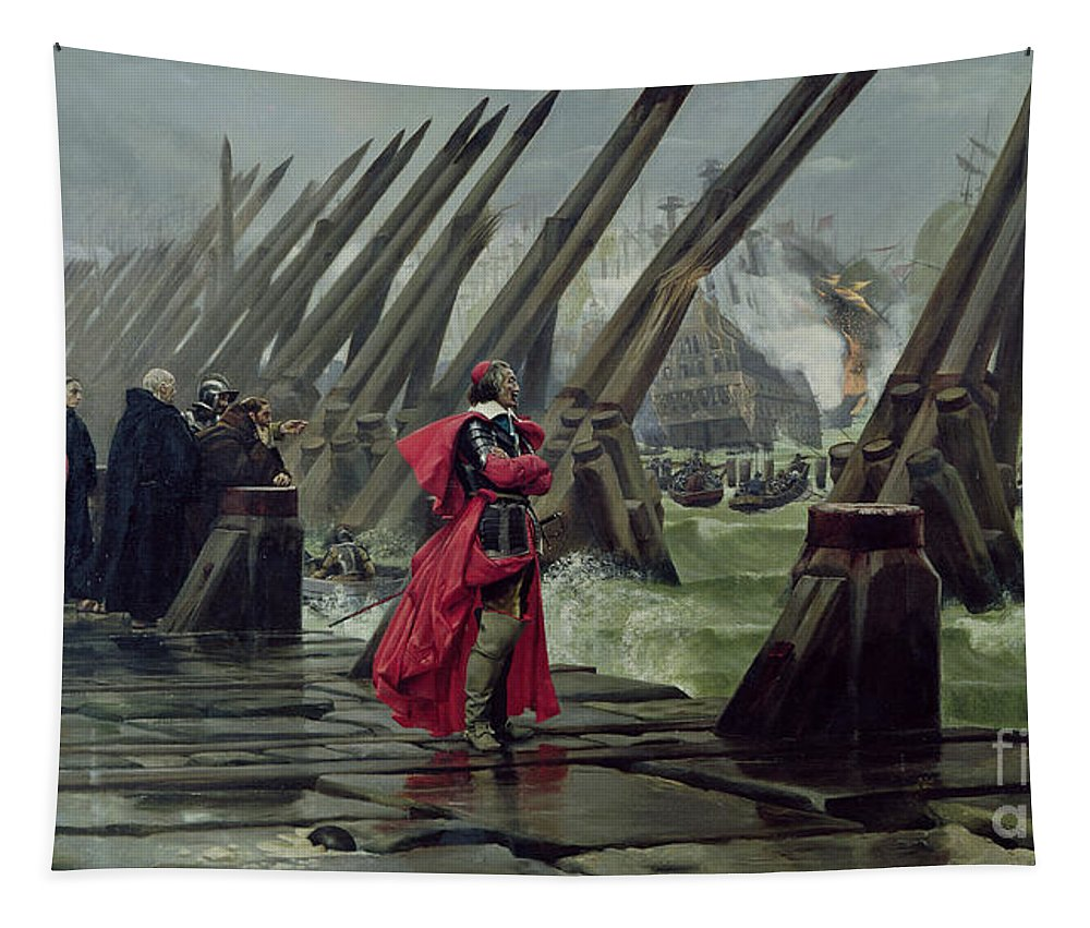 Richelieu Tapestry featuring the painting Richelieu by Henri-Paul Motte