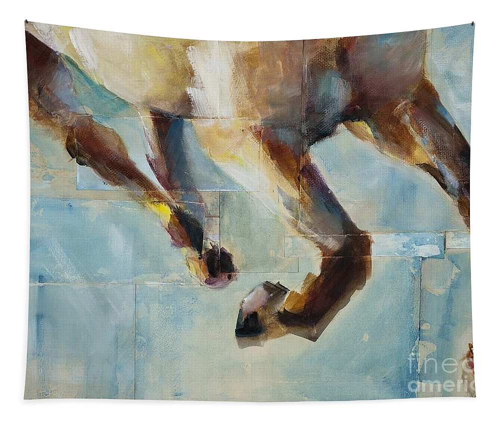 Horses Tapestry featuring the painting Ride Like You Stole It by Frances Marino