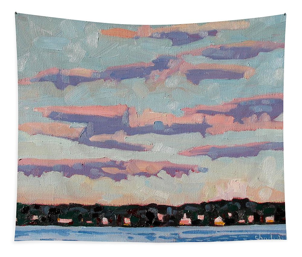 Flat Tapestry featuring the painting Ridge Stratocumulus by Phil Chadwick