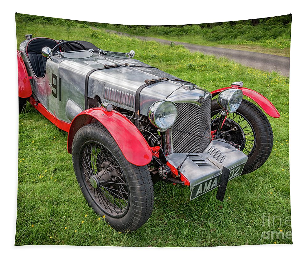 Classic Car Tapestry featuring the photograph Riley Nine 1933 by Adrian Evans