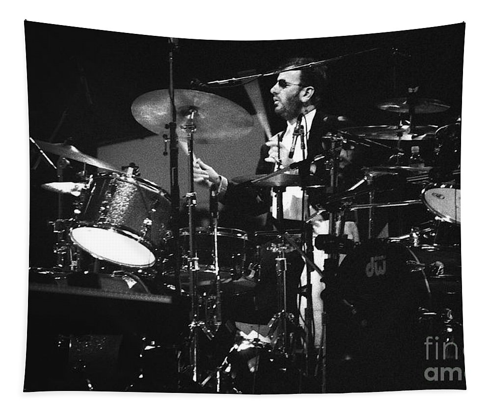 Ringo Starr Tapestry featuring the photograph Ringo Starr 92-2046 by Gary Gingrich Galleries