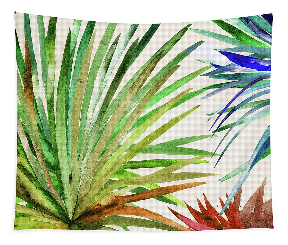Leaves Tapestry featuring the painting Rio Five by Mindy Sommers