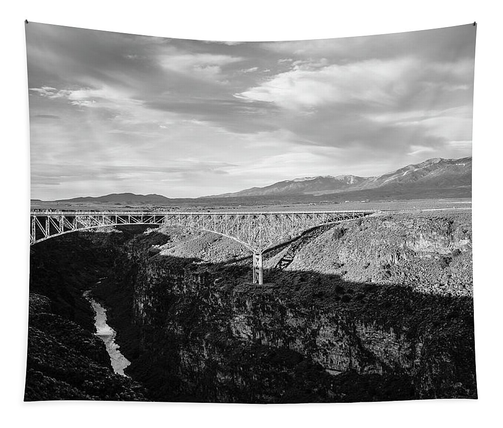 Sangre De Cristo Tapestry featuring the photograph Rio Grande Gorge Birdge by Marilyn Hunt