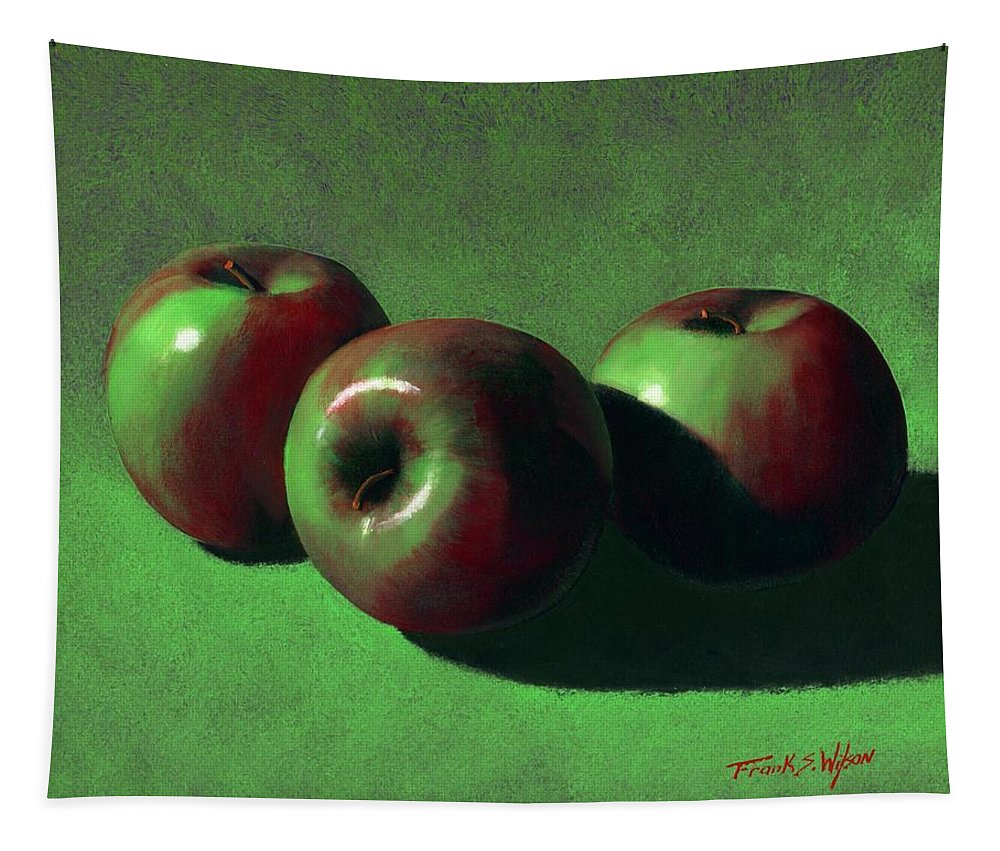 Still Life Tapestry featuring the painting Ripe Apples by Frank Wilson