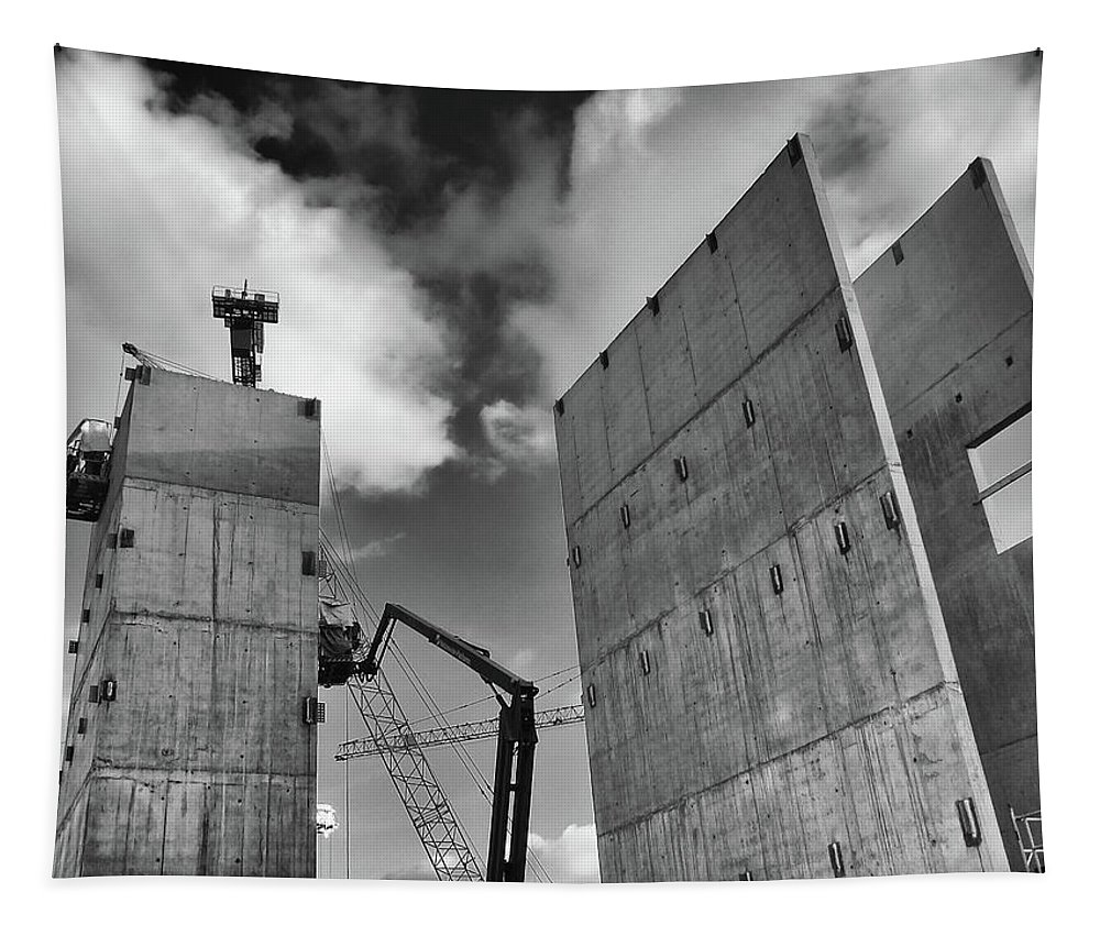Construction Tapestry featuring the photograph Rise by Philip Openshaw