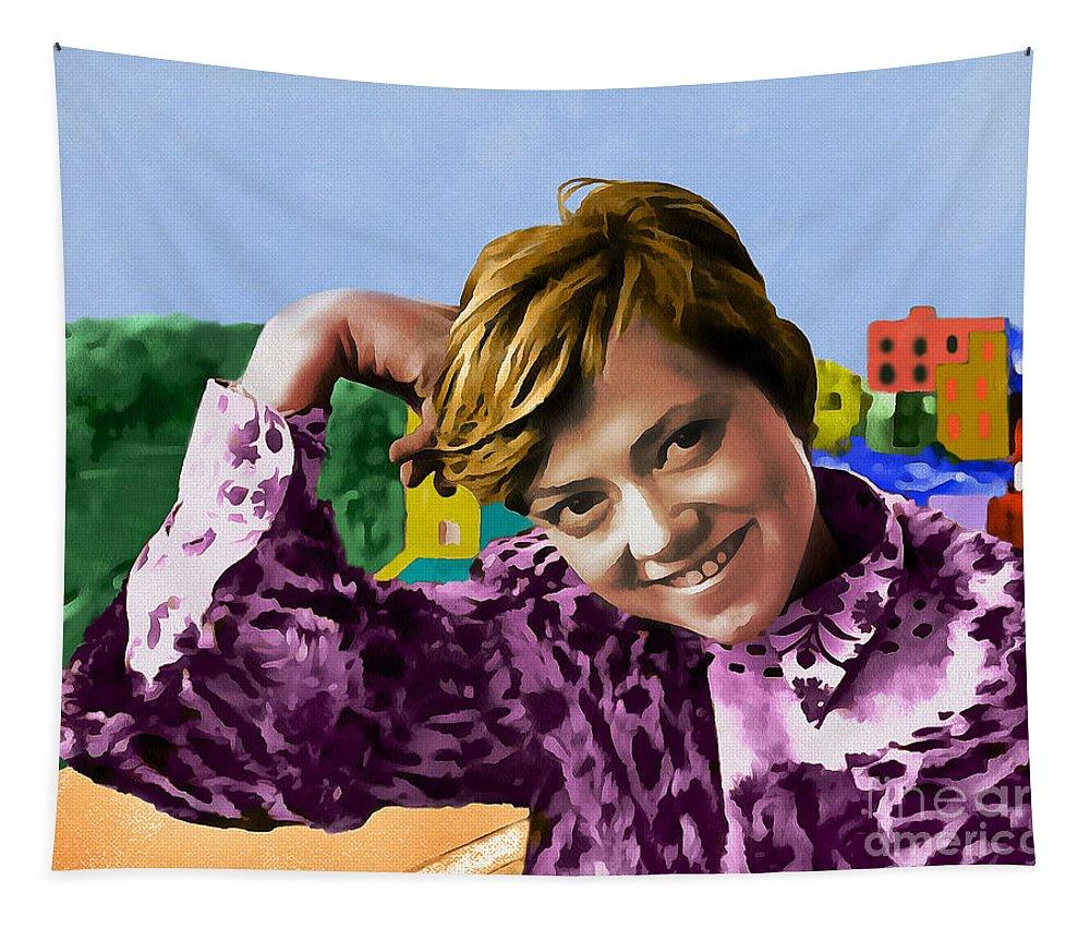 Rita Pavone Tapestry featuring the digital art Rita Pavone Collection - 1 by Sergey Lukashin