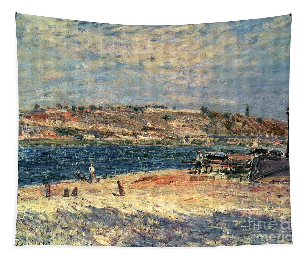 River Tapestry featuring the painting River Banks At Saint-mammes by Alfred Sisley