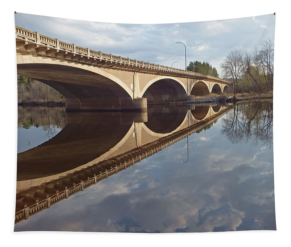 Rivers Tapestry featuring the photograph River Reflections by Alison Gimpel