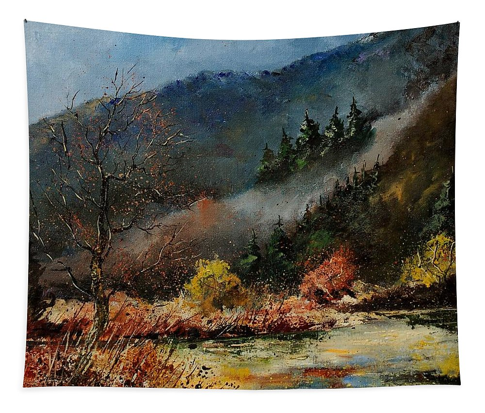 River Tapestry featuring the painting River Semois by Pol Ledent