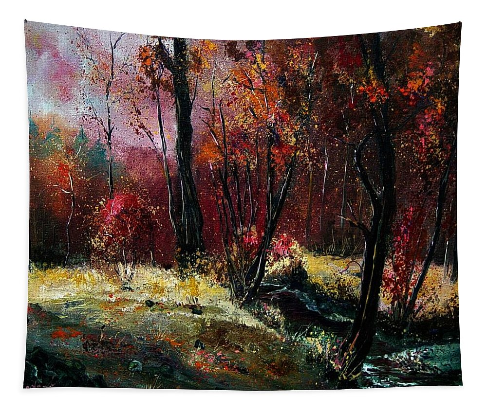 River Tapestry featuring the painting River Ywoigne by Pol Ledent