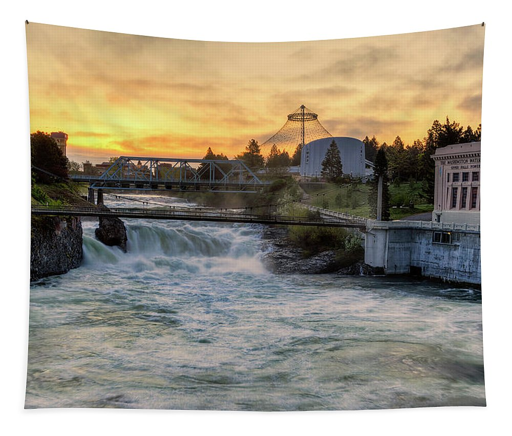 Spokane Tapestry featuring the photograph Riverfront Park Sunrise by Mark Kiver
